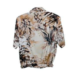 crop top camisa selva negra