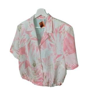 crop top camisa pastel