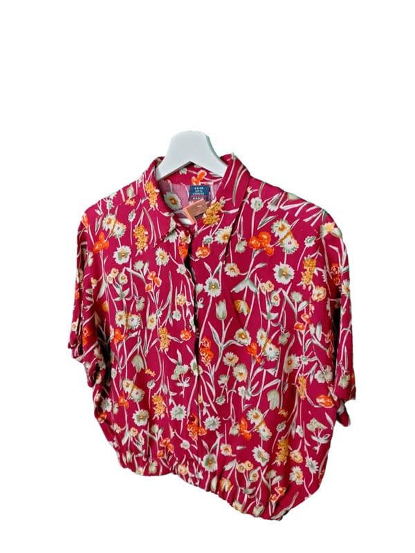 crop top camisa cerezas