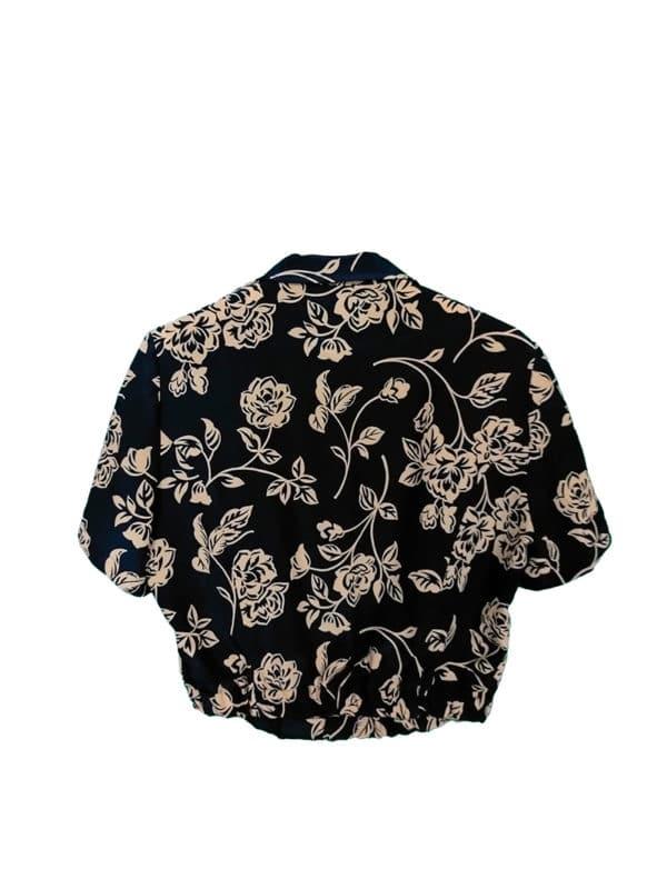 crop top camisa noche negra