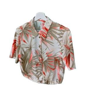 crop top camisa jardin