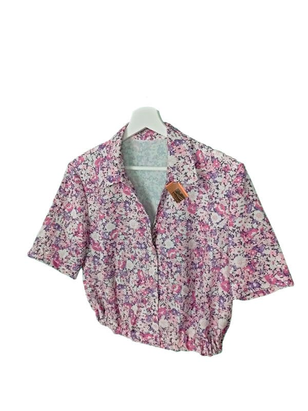 crop top camisa mini