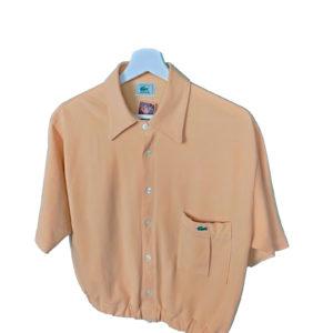 crop top polo camisa lacoste