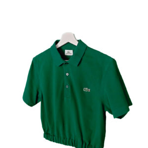 crop top polo verde