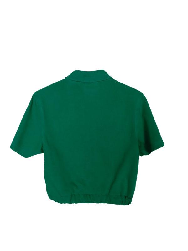 crop top polo verde lacoste