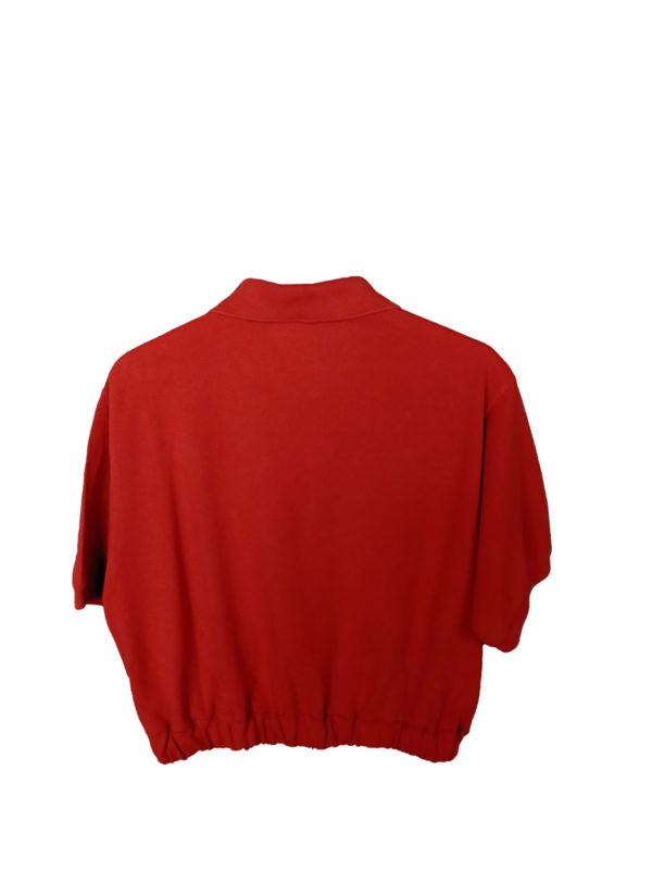 Crop Top Polo lacoste rojo