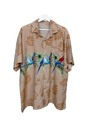 Camisa hawaiana loros