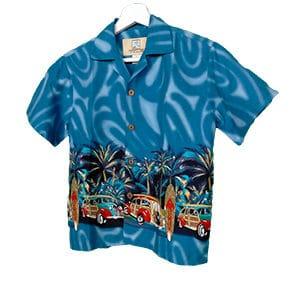Camisa hawaiana azulmar