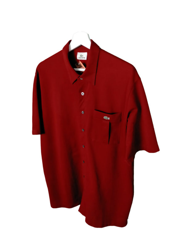 Camisa Lacoste Vintage color rojo